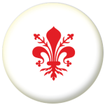 Florence Flag 58mm Button Badge